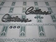 1967 Olds Cutlass Chrome Front Fender Scripts 2 Emblems With Hardware