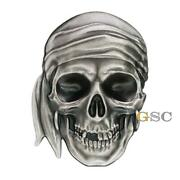 Pirate Skull Shape Silver Coin High Relief And Smartminting Palau 2017