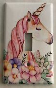 Unicorn Flower Light Switch Outlet Toggle And More Wall Cover Plate Home Decor