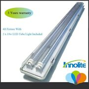 4ft Led Utility Shop Light 36watts Instant-on Garage Light Fixtures With 2 Bulb