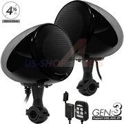 600w Amp Bluetooth Waterproof Motorcycle Stereo Speaker Audio Mp3 System Aux Usb