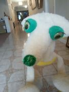 Vintage Cream And Yellow Plush Marionette Bird Or Dog String Puppet