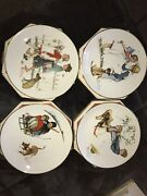 1972 Limited Edition Norman Rockwell Four Seasons Plates