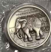 2018 Thailand World Stamp Expo Silver Antique Finish Elephant Medal Mintage68