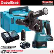 Makita Dhr243z 18v Brushless Sds+ Hammer Drill + 1 X 5ah Battery Charger And Case