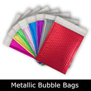 Strong Metallic Bubble Padded Coloured Bags Peel And Seal Envelopes All Sizes