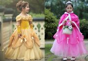 Gorgeous Sofia The First Belle Cinderella Costume Girls Princess Dress Gown Zg8