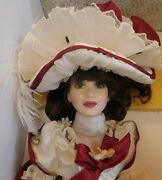 New In Box Franklin Mint - Maryse Nicole Doll - Christmas Rose Rare