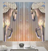 Horses Same Movements 3d Curtain Blockout Photo Printing Curtains Drape Fabric