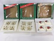 Vintage Bradford Novelty Glass Christmas Trimmeries Ornaments Hand Decorated