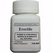 Erectile Power Stamina Male Supplement Pill Testosterone Booster - 12 Capsules