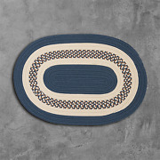Crescent Lake Blue Braided Area Rug/runner By Colonial Mills.many Sizes. Nt51