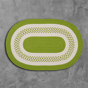 Crescent Bright Green Braided Area Rug/runner By Colonial Mills.many Sizes. Nt62