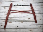 Original Barn Red 1 Or 2 Man Buck Bow Saw Crosscut Authentic Antique