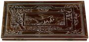Handmade Wooden Carved Backgammon Game Board Playing Set Fine Ash-tree Wood Gift