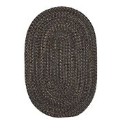 Hayward Charcoal Braided Area Rug/runner By Colonial Mills. Many Sizes. Hy29