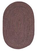 Hayward Plum Braided Area Rug/runner By Colonial Mills. Many Sizes. Hy49