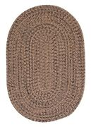 Hayward Mocha Brown Braided Area Rug/runner By Colonial Mills. Many Sizes. Hy89