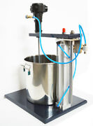 Guide Rail Type 5 Gallon Pneumatic Mixer With Stand Tank Barrel Paint Mix