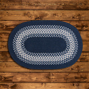 North Ridge Navy Braided Area Rug/runner By Colonial Mills. Many Sizes. Ng59
