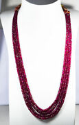 347.88 Ctw Watch The Luster Video Glittering Unheated Ruby Necklace