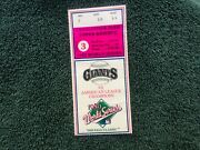 1989 World Series Ticket Stub. Game 3. Earthquake Game. Good Condition.