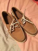 Lands End Women's 8 Medium Brand New Leather Upper Boat Shoes