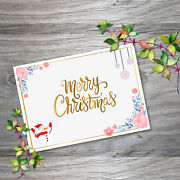 Greeting Cards Merry Christmas Snowman Xmas Holiday Gift Postcard With Envelope