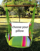 Magnolia Casual Hammock Swing Set - Fresh Lime Choose Your Pillow