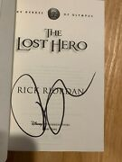 Signed By Rick Riordan - The Lost Hero Hc 1st/1st Bk 1 Heroes Of Olympus