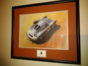 Porsche Racing Art Great Gift Looks Good In An Office Or A Man Cave