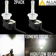 Alla Lighting Led Super Bright D4r Hd-light Bulb,hid Replacement,instant On 6k
