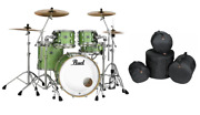 Pearl Masters Complete Absinthe Sparkle 22x18_10x7_12x8_16x16 Drums Free Gigbags