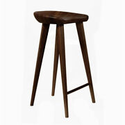 New Carved Wood Barstool -30 Contemporary Bar/counter Tractor Stool-set Of 4 E