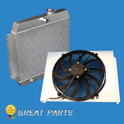 3 Rows Aluminum Radiator Fit 1949-1954 Chevy Styleline Deluxe V8 With Fan Shroud