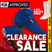 Fia Sabelt Base Mid Rs-100 Racing Race Shoes Blue Black Red Clearance Sale +gift