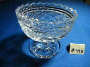 Waterford Open Candy Dish Footed, 4 1/4h, 4 3/4w, Excellent Condition.