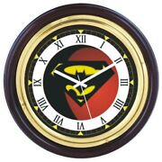 Brassen Wood Wall Clock 16 Superman Logo Dial Nautical Home Decor And Gifted