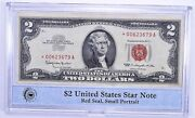 1963 2 United States Star Note Red Seal, Small Portrait Pcs - Neat