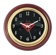 Brass Wooden Wall Clock16 Superman Logo Dial-2 Nautical Home Decor And Gifted