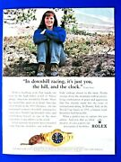 1996 Rolex Picabo Street You The Hill The Clock Original Print Ad 8.5 X 11