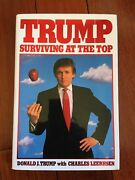 Donald Trump Signed Book Surviving At The Top Autographed Hard Cover