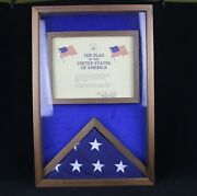 American Flag Flown Over Capital On 9/18/1993 With Certificate By George White