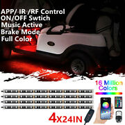 Wireless Remote Music Led Golf Cart Lights Underglow Kit For Club Car Ezgo