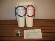 Purhome Uc-12 Ucd-12c Dual Undercounter Water Filter - Housings Only, No Filters