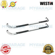 Westin For 80-91 Ford F-150 Signature Series Round Bars 3chrome Plated 25-0795