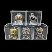 Championship Ring Display Case Box Clear Stand Holder Cube Ring Box Display Case