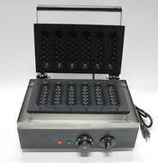Efle Commercial Electric Muffin Hot Dog Waffle Machine 110v Breadfast Making New