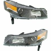 New Depo Driver And Passenger Side Nsf Headlight Set For 2012-2014 Acura Tl