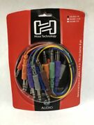 Hosa Css-830 Color Balanced Audio Patch Cable 1/4 Trs 8 Pc 1 Ft Upc 728736005105